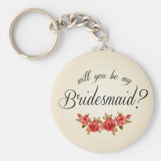 Bridesmaid Invitation Keychain
