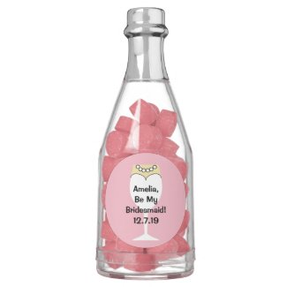 Bridesmaid Invite Bottle of Gum