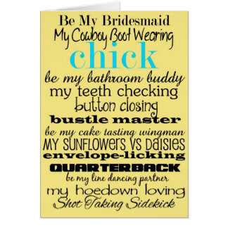 Bridesmaid Invite Card