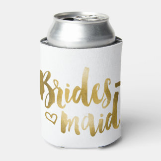 Bridesmaid Koozie - Gold Can Cooler