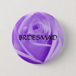 BRIDESMAID- lavender rose button