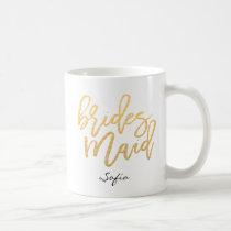 Bridesmaid Lettering Custom Coffee Mug