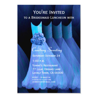 Bridesmaid Luncheon Blue Dresses V11 Card