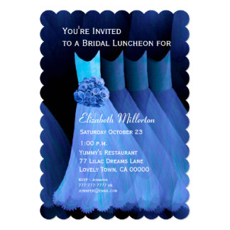 Bridesmaid Luncheon Brunch Blue Dresses V02 Cards