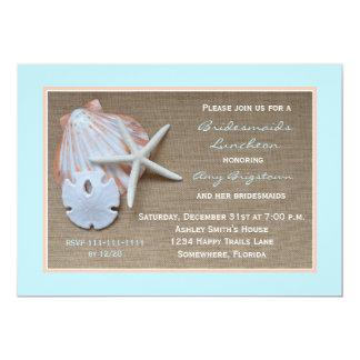 Bridesmaid Luncheon Invitations -- Beach Theme