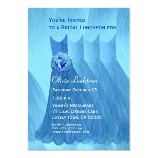 Bridesmaid Luncheon or Brunch Blue Dresses Invites