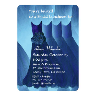 Bridesmaid Luncheon or Brunch Blue Dresses V01A Announcements
