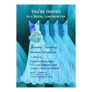 Bridesmaid Luncheon or Brunch Blue Dresses V05 Card