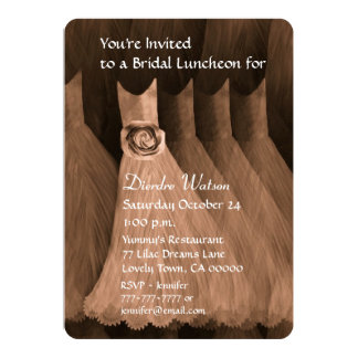 Bridesmaid Luncheon or Brunch Bronze V02N Invites