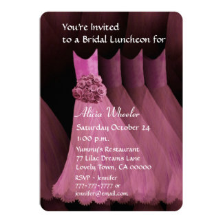 Bridesmaid Luncheon or Brunch Pink Dresses V01G Personalized Announcements