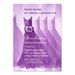 "Bridesmaid Luncheon or Brunch Purple Dresses 5"" X 7"" Invitation Card"