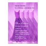 Bridesmaid Luncheon or Brunch Purple Dresses Personalized Invites