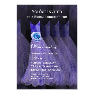 Bridesmaid Luncheon or Brunch Purple Dresses V01 Card