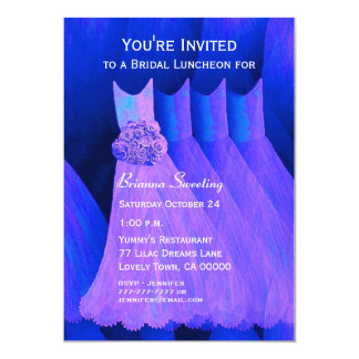 Bridesmaid Luncheon or Brunch Purple Dresses V06 Card