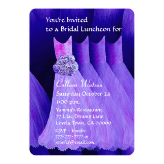 Bridesmaid Luncheon or Brunch Royal Purple V02H Invites