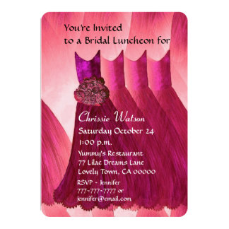 Bridesmaid Luncheon or Brunch Ruby Red V02C Invites