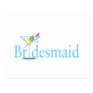 Bridesmaid (Martini Blue) Postcard