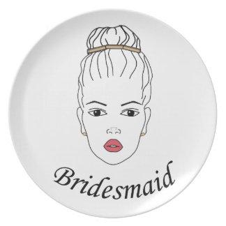 Bridesmaid Melamine Plate