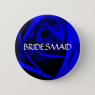 BRIDESMAID -midnight blue rose  button