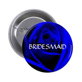 BRIDESMAID -midnight blue rose  button