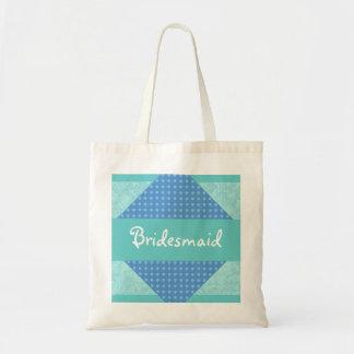 Bridesmaid Modern Patterns Custom Wedding Tote Bag
