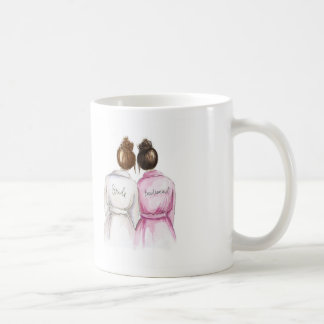 Bridesmaid? Mug Auburn Bun Bride Dk Br Maid
