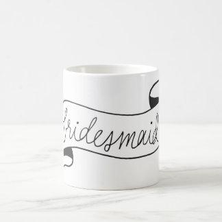 Bridesmaid Mug Banner Script Black