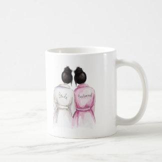Bridesmaid? Mug Black Bun Bride Black Bun Maid