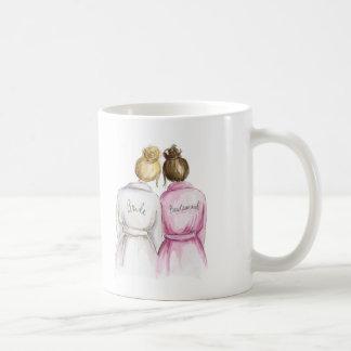 Bridesmaid? Mug Blonde Bride Brunette Maid