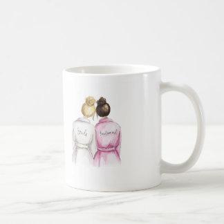 Bridesmaid? Mug Blonde Bride Dark Brunette Maid
