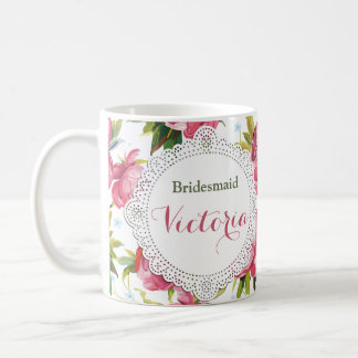 Bridesmaid Mug, Maid of Honor gift, Wedding Mugs