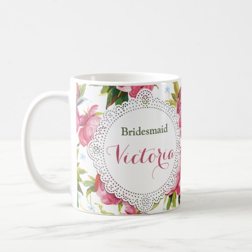 Wedding Day Gift For Bride From Maid Of Honor : Bridesmaid Mug, Maid of Honor gift, Wedding Mugs Zazzle