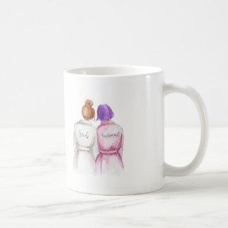 Bridesmaid? Mug Red Bun Bride Purple Bob Maid