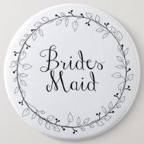 Bridesmaid name tag button