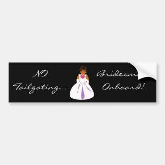 """Bridesmaid Onboard"" Bumper Sticker - Customizable"
