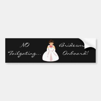 """Bridesmaid Onboard I"" Bumper Sticker-Customizable Bumper Sticker"