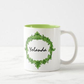 Bridesmaid Ornate Vintage Custom Name 12 Coffee Mugs