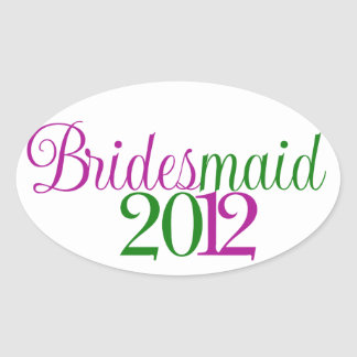 Bridesmaid Oval Sticker