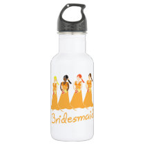 Bridesmaid Peach Dresses Stainless Steel Water Bottle