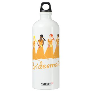 Bridesmaid water bottles