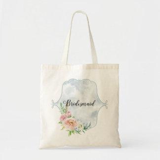 Bridesmaid Periwinkle Vignette Tote Bag