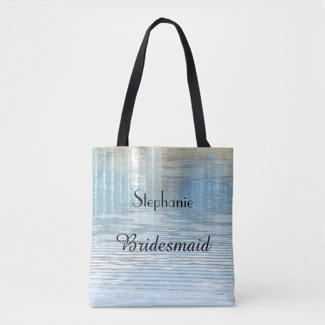 Bridesmaid Personalized Abstract Water Reflection