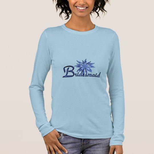 Bridesmaid Personalized Blue Long Sleeve Shirt