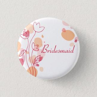 Bridesmaid petals wedding pin / button