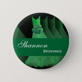 BRIDESMAID Pin Button Kelly Green Gowns M398