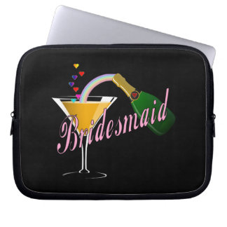 Bridesmaid Pink Champagne Toast Computer Sleeve