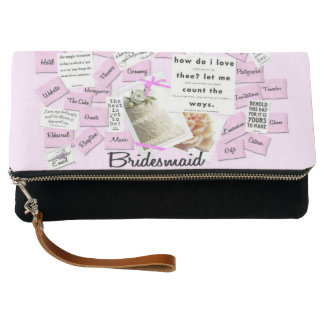 Bridesmaid Pink Fold Over Clutch Bag