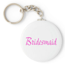 Bridesmaid Pink Keychain