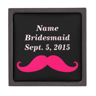 Bridesmaid Pink Mustache Gift Box