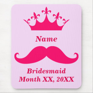 Bridesmaid Pink Mustache Mousepad